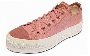 Tenis Converse Chuck Taylor All Star Flatform Rosa