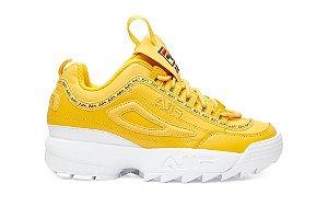 Tenis Fila Disruptor II Premium Repeat Feminino Amarelo