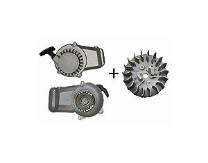 Partida Puxador Manual + Magneto para Mini Motos/Quadriciclos 49cc