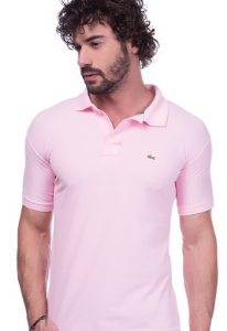 Camisa Gola Polo Lacoste Rosa