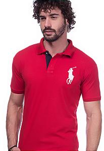 Camisa Polo Ralph Lauren Vermelha | Oferta