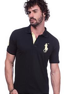 Camisa Gola Polo Ralph Lauren Preta