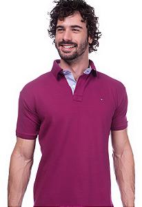 Camisa Gola Polo Tommy Vinho
