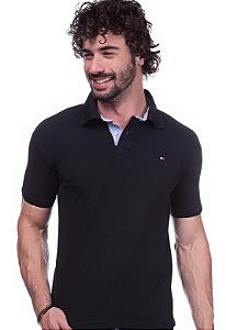 Camisa Gola Polo Tommy Preta