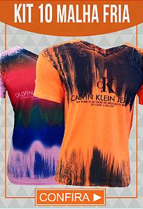Kit 10 Camisetas Malha Fria Calvin Klein