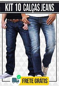 Kit com 10 Calças Jeans masculinas - Promoção