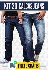 Kit com 20 Calças Jeans masculinas - Promoção