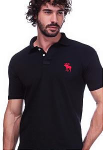 Camisa Polo Abercrombie Preta | Oferta