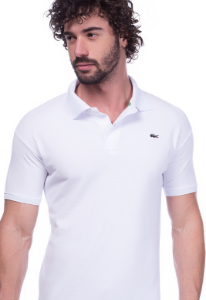 Camisa Gola Polo Lacoste Branca