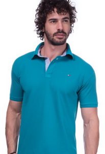 Camisa Gola Polo Tommy Verde