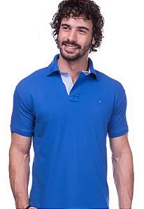 Camisa Gola Polo Tommy Azul
