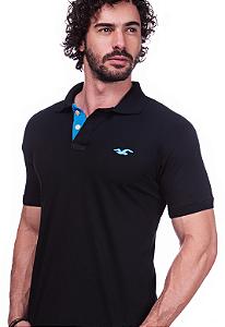 Camisa Polo Hollister Preta | Oferta