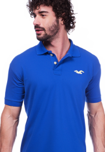 Camisa Polo Hollister Azul | Oferta