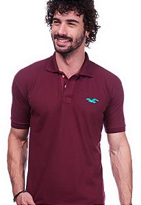 Camisa Polo Hollister Vinho | Oferta