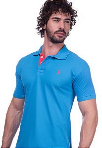 Camisa Gola Polo Ralph Lauren Executivo Azul