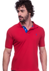 Camisa Gola Polo Ralph Lauren Executivo Vermelha