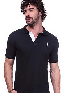 Camisa Gola Polo Ralph Lauren Executivo Preto