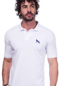 Camisa Polo Acostamento Branca | Oferta