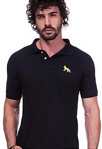 Camisa Polo Acostamento Preta | Oferta