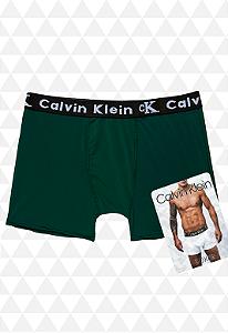 Cueca Boxer Calvin Klein Verde Escura