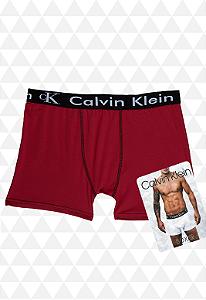 Cueca Boxer Calvin Klein Vermelha Escura
