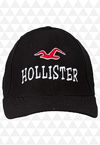 Boné Hollister Preto - Aba Curva