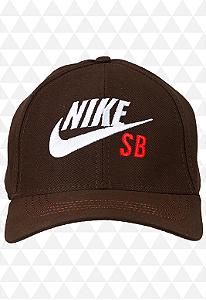 Boné Nike Marrom - Aba Curva
