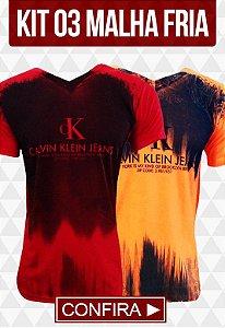 Kit com 03 Camisetas Malha Fria - Calvin Klein