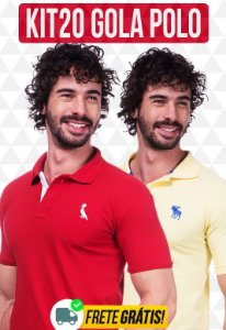 Kit com 20 Camisas Polo Masculinas no Atacado