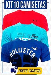 Kit com 10 camisetas masculinas | Atacado | Frete Grátis