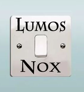 ADESIVO INTERRUPTOR LUMOS NOX