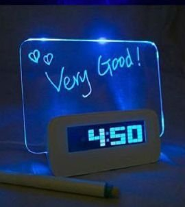 DESPERTADOR COM PLACA LED - AZUL