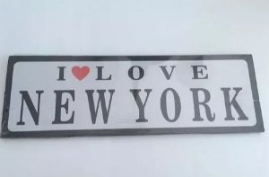PLACA DECORATIVA - NEW YORK