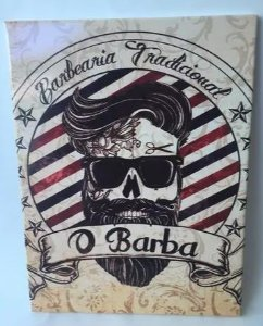 PLACA DECORATIVA BARBEARIA - PEQUENA