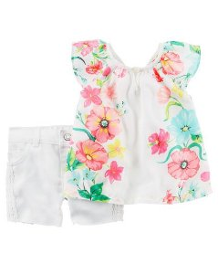 Conjunto Flowers Carter´s   9 meses