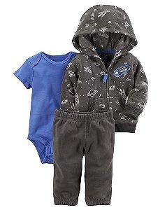 Conjunto Inverno em Fleece Menino 12 meses