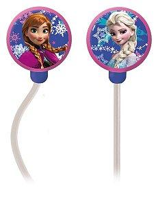 Fone de Ouvido Disney Frozen Multilaser PH128 Branco e Rosa