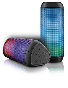Caixa De Som Bluetooth Led Micro Sd 15w Rms Multilaser