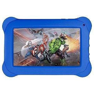 Tablet Disney Vingadores 8GB Wifi Tela de 7 Polegadas Azul
