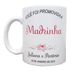 Canecas Personalizadas Padrinhos de Casamento Cerâmica 325 ml