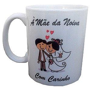 Canecas Personalizadas Para Casamento Para Pais dos Noivos Cerâmica 325 ml