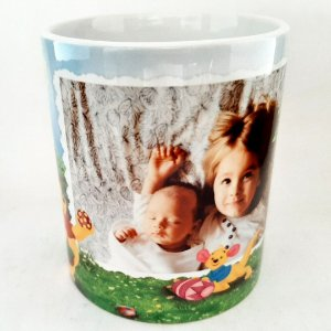 Caneca de Páscoa de Cerâmica 325 ml Personalizada com Foto