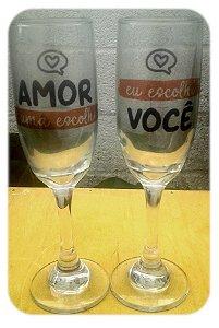 Kit Taça Espumante Personalizada Presente Dia dos Namorados
