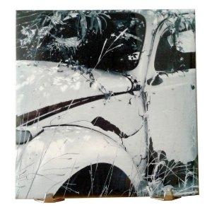 Azulejo Personalizado 20 x 20 cm Cerâmica Com Suporte de Mesa