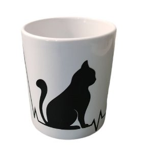Caneca de Gato Cerâmica 325 ml