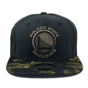 Boné New Era 950 Snapback Golden State Warriors Mescla Negro