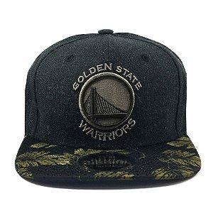 Boné New Era 950 Snapback Golden State Warriors Mescla Negro