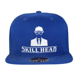 Boné Skill Head Snapback Logo Royal