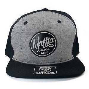 Boné  Maffia & Co Snapback Mescla/Preto