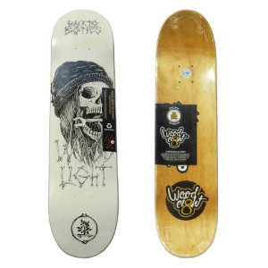 Shape Wood Light Back to Bone White 7.75